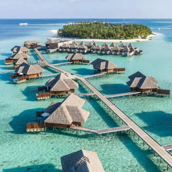 hotels with water villas